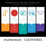 5 vector icons such as next... | Shutterstock .eps vector #1102934831
