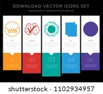 5 vector icons such as... | Shutterstock .eps vector #1102934957