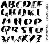 grunge distress font. modern...   Shutterstock .eps vector #1102936061