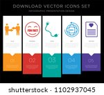 5 vector icons such as conflict ...   Shutterstock .eps vector #1102937045