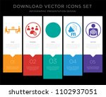 5 vector icons such as... | Shutterstock .eps vector #1102937051