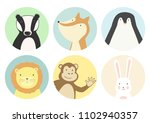 set of circle gift tag  badge ... | Shutterstock .eps vector #1102940357