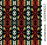 tribal colorful ethnic texture | Shutterstock .eps vector #1102945217