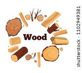 vector illustration of a tree  ... | Shutterstock .eps vector #1102949381