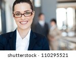 smart young businesswoman... | Shutterstock . vector #110295521