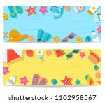 summer horizontal banners set ...   Shutterstock .eps vector #1102958567