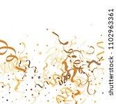 golden star ribbon confetti.... | Shutterstock .eps vector #1102963361