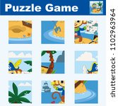 puzzle for children featuring a ...   Shutterstock .eps vector #1102963964