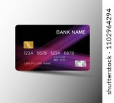 realistic detailed credit card. ... | Shutterstock .eps vector #1102964294