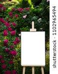 blank poster  mockup  project... | Shutterstock . vector #1102965494