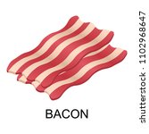 slice of bacon icon. isometric... | Shutterstock .eps vector #1102968647