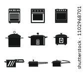 cooker oven stove pan burner... | Shutterstock .eps vector #1102968701
