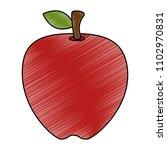 fresh apple fruit icon | Shutterstock .eps vector #1102970831