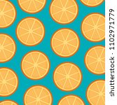 fresh oranges fruits pattern... | Shutterstock .eps vector #1102971779