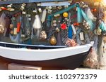 fishing gear background | Shutterstock . vector #1102972379