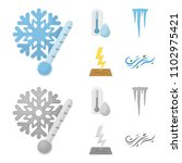 humidity  icicles  thunderbolt  ... | Shutterstock .eps vector #1102975421