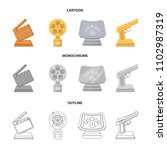 gold pistol  silver prize for...   Shutterstock .eps vector #1102987319
