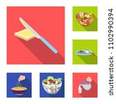 dessert fragrant flat icons in... | Shutterstock .eps vector #1102990394