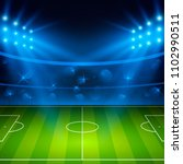 soccer stadium. football arena... | Shutterstock .eps vector #1102990511