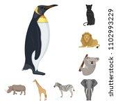 different animals cartoon icons ... | Shutterstock .eps vector #1102993229