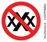 set no sign porn 18  xxx  ... | Shutterstock .eps vector #1102998881