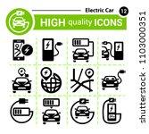 vector electric car icon set....   Shutterstock .eps vector #1103000351