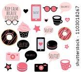 set of vector stickers in... | Shutterstock .eps vector #1103018267