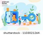 vector flat illustration ... | Shutterstock .eps vector #1103021264