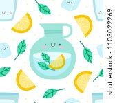 super cute seamless pattern... | Shutterstock .eps vector #1103022269
