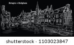 view on rozenhoedkaai water...   Shutterstock .eps vector #1103023847