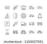 set of car outline icons...