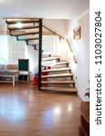 Metal And Wooden Round Stair...
