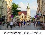 krakow poland   31 may 2018 ... | Shutterstock . vector #1103029034