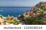 the town of positano and his... | Shutterstock . vector #1103038214