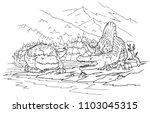 cartoon coloring book  ... | Shutterstock .eps vector #1103045315