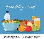 foods that help health care.... | Shutterstock .eps vector #1103045594