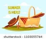 lovely set for a picnic. vector ... | Shutterstock .eps vector #1103055764
