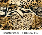 Seamless Tiger  Leopard And...