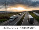 caravan or convoy of white...   Shutterstock . vector #1103059301