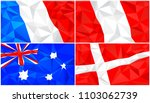 low poly flag  abstract... | Shutterstock .eps vector #1103062739