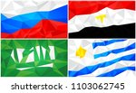 low poly flag  abstract... | Shutterstock .eps vector #1103062745