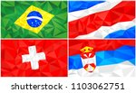 low poly flag  abstract... | Shutterstock .eps vector #1103062751
