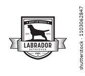 Vintage Dog Badge. Labrador...