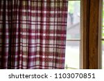 plaid curtain red white cabin... | Shutterstock . vector #1103070851