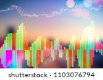 showing the trading graph over... | Shutterstock . vector #1103076794