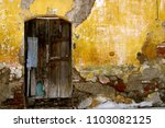 exterior wall of an old house... | Shutterstock . vector #1103082125
