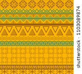 tribal ethnic seamless pattern. ... | Shutterstock .eps vector #1103089874