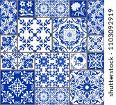 seamless patchwork tile with... | Shutterstock .eps vector #1103092919
