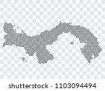 abstract black map of panama  ...   Shutterstock .eps vector #1103094494
