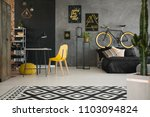 black and yellow posters on...   Shutterstock . vector #1103094824